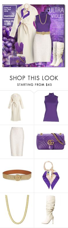 """""""ULTRA VIOLET"""" by sheryl-lee ❤ liked on Polyvore featuring Green & Spring, MaxMara, Fedeli, St. John, Gucci, Lauren Ralph Lauren and Anne Michelle"""
