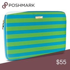 Kate Spade Printed Neoprene Sleeve/Surface Pro 3 Kate Spade Neoprene Sleeve for Microsoft Surface Pro 3 fits your tablet like a glove! It features iconic Kate Spade styling with a fun striped pattern and gold zipper detail, and is made from durable neoprene material to offer plenty of protection for your tablet against bumps, drops, and spills. Inside, you'll find a soft interior that provides even more protection against scratches caused by dust or dirt. Kate Spade Accessories Tablet Cases