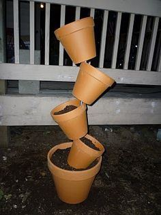 tipsy pot tutorial - I think this would be cool for @Jimmy Rich's awesome back yard!