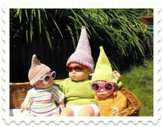 hanging with the gnomies.. :D......Erica Affolter and Leah Affolter think we need to do this for meemaw!!