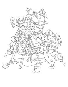 coloring page Alice in Wonderland Kids-n-Fun