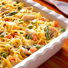Turkey Tetrazzini Recipe ~ This is always a favorite after Thanksgiving turkey dish or simply for something different with deli turkey anytime!