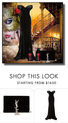 """""""Who's that girl?"""" by kelly-floramoon-legg on Polyvore featuring Yves Saint Laurent, Rachel Gilbert, Masquerade and ballgown"""