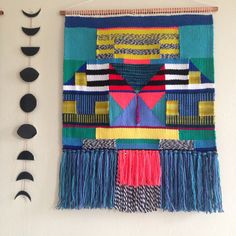 Weave weaving wall hanging tapestry by Maryanne Moodie Www.maryannemoodie.com