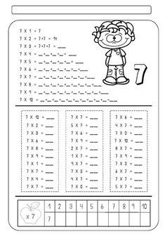 Addition And Subtraction Worksheets, 1st Grade Math Worksheets, Worksheets For Kids, Teaching Numbers, Tools For Teaching, Teaching Math, Math Measurement, Math Multiplication, Primary Maths