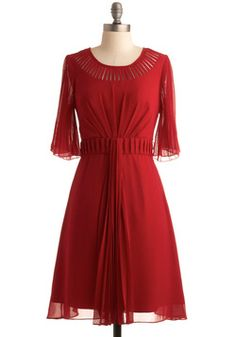 Pretty red dress from modcloth.com, a fabulous store for retro, indie and vintage inspired pieces.