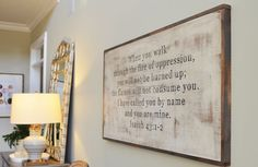 Love the big board (I love quotes) with the stained edges. Would be easy enough to make.