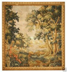 "3'10""x4'1"" Authentic Handmade European French Tapestry 