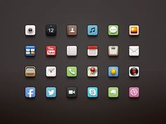 Dribbble - iOS Icons by Paco