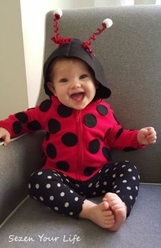 Adorable DIY ladybug costume for baby by Sezen Your Life  sc 1 st  Pinterest & Check Out These 50 Creative Baby Costumes For All Kinds of Events ...
