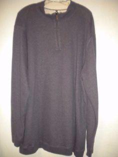 Foundry Size 2XLT Purple Heather Long Sleeve 1/4 Zip Pullover Mens Sweatshirt #Foundry #14Zip