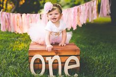 First Birthday Tutu SEWN Tutu Pink Tutu Cake Smash by PICKLEBUG