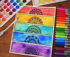 dibujar-mandalas-cinco-tipos-de-mandalas-en-diferentes-colores-vibraciones-relajantes