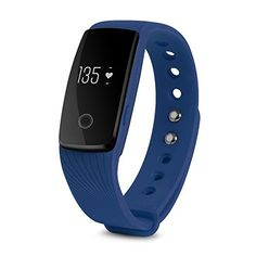 XCSOURCE Heart Rate OLED Smart Bracelet Waterproof Sports Health Activity Fitness Tracker Bluetooth Wristband Pedometer Sleep Monitor Blue AC494 ** Read more reviews of the product by visiting the link on the image. (Note:Amazon affiliate link)