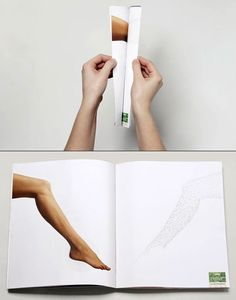 Depilatory Strips. Advertising Agency: Lg2, Quebec, Canada