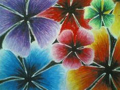 Oil Pastels for Beginners YouTube | FLOWERS [Oil Pastel on Paper ]