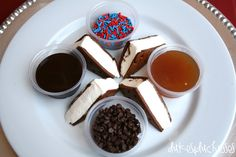 ice cream sandwich dippers platter