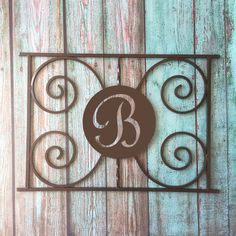 Incroyable Monogram Design, Screen Door Grille, Protect And Beautify , Easy Install,  Handcrafted, Many Colors, Aluminum, Custom Sizes, Initial, Letter