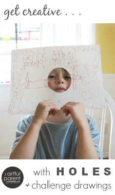 Hole in Paper Drawing for Kids - So Inspiring!