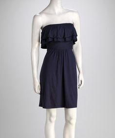 Take a look at this Navy Tortuga Double Ruffle Dress by SOUTHERN fROCK on #zulily today! $44.99, regular 114.00