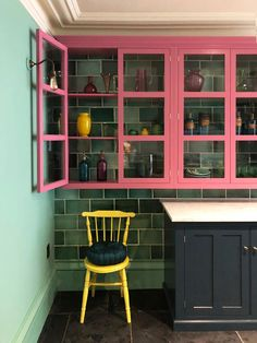 devol kitchens hops across the pond. / sfgirlbybay devol kitchens hops across the pond. Best Kitchen Colors, Kitchen Paint Colors, Paint Colours, Kitchen Display, Kitchen Decor, Kitchen Ideas, Shelf Display, Display Case, Diy Kitchen