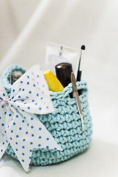 crochet basket ༺✿ƬⱤღ✿༻