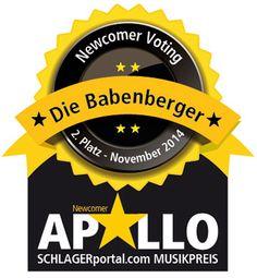Die Babenberger erneut auf Platz 2 im Newcomer Voting auf www.schlagerportal.com September, Music