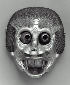 Bugaku mask of the Ryoo type Japanese, Edo period, 17th century.