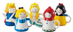 Sun Art Japanese Sunart Tea for One Teapot Tea cup Set Snow White Mermaid Alice