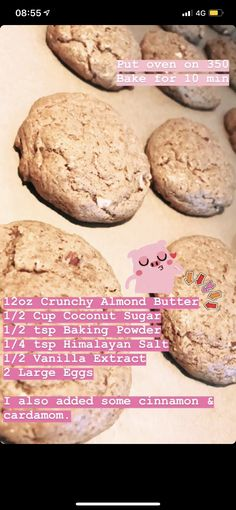 Coconut Sugar, Almond Butter, Egg And I, Large Egg, Cinnamon, Oven, Vanilla, Cookies, Chocolate