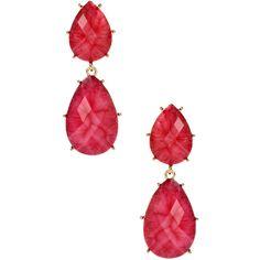 Amrita Singh Women's Santa Ana Drop Earrings - Pink (61 PEN) ❤ liked on Polyvore featuring jewelry, earrings, pink, amrita singh earrings, pink drop earrings, long earrings, long drop earrings and pink earrings