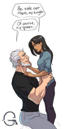 Overwatch Ana and Reinhardt