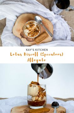 Smooth, creamy, Biscoff flavoured ice cream, topped with crunchy biscuit crumbles and a drizzle of Lotus spread, all drowned in freshly brewed espresso. Lotus Cake, Biscoff Recipes, Lotus Biscoff, Gourmet Recipes, Healthy Recipes, Affogato, Flavor Ice, Frozen Yoghurt, Ice Cream Desserts
