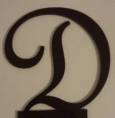 6 Brown Monogram Cake Topper Acrylic   Free by iCreateToppers, $20.00