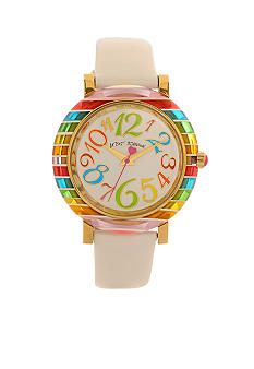 Betsey Johnson Watch with Multi-Colored Case