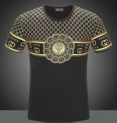 New Gucci Mens Short Sleeve T-Shirt Black S be4381faacf