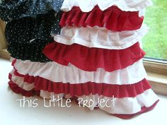 Ruffle flag pillow that even I can make!