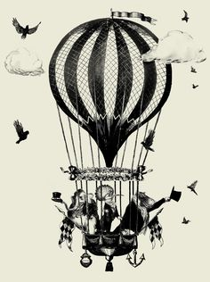 steampunk balloon - Szukaj w Google