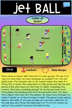 Phys Ed Warm Up Games and Lessons. This pack is great if you are looking to add new and exciting PE Warm up games and instant activities for your Physical Education / Sport Lessons. Physical Education Activities, Elementary Physical Education, Educational Activities, Health Education, Pe Activities, Educational Psychology, Education Jobs, Movement Activities, Educational Websites