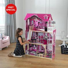 KidKraft Amelia Dollhouse - Toy Tips Pink Dollhouse, Dollhouse Toys, Wooden Dollhouse, Dollhouse Furniture, Amelie, Toy House, Nest Design, Multiplication For Kids, Kids Online