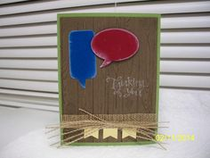 Word Bubbles Masculine by D. Daisy - Cards and Paper Crafts at Splitcoaststampers