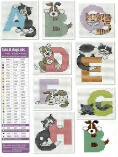 pets alphabet cross stitch
