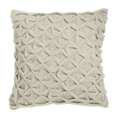 Sculpted Origami Cushion Cover - Heather Oatmeal