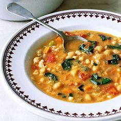 Chickpea & Swiss Chard Soup....so perfect for a cold winter day