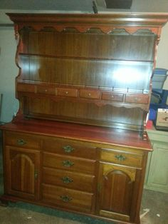 1960's ethan allen early american furniture | have an Ethan Allen Solid Cherry Early American hutch/buffet. Photos ...