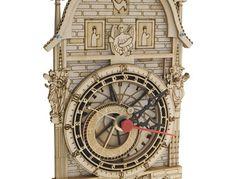 木材からレーザーカッターで制作した時計