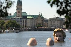 AWESOME! Giant Floating Mermaid in Alster Lake, Hamburg Germany. I wish I would have seen this when I was there!