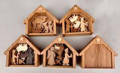 Conjunto de madera Natividad conjunto Navidad por ArksAndAnimals