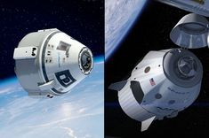 Boeing's CST-100 (left) and SpaceX's Dragon space capsules are designed to fly astronauts the space station. <br />