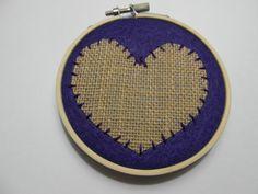 Rustic Heart  Felt Hoop Art by HERTrinkets on Etsy